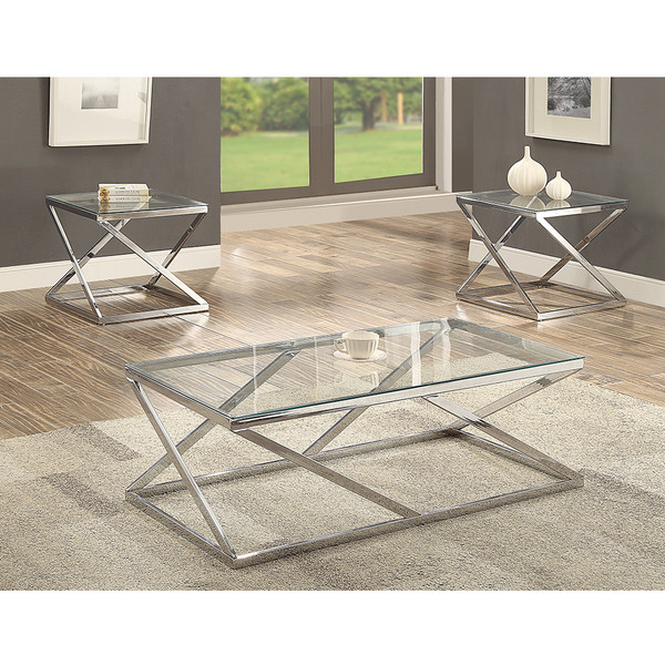 Crown Mark 3272 Chase Coffee and End Tables