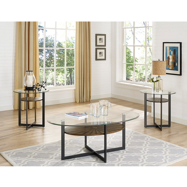 Crown Mark 4246 Novak Coffee and End Tables