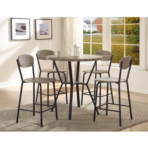 Crown Mark 1730 Blake Grey Dining Room Set