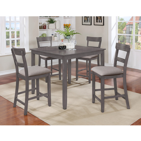Crown Mark 2754 Henderson Grey Dining Room Set