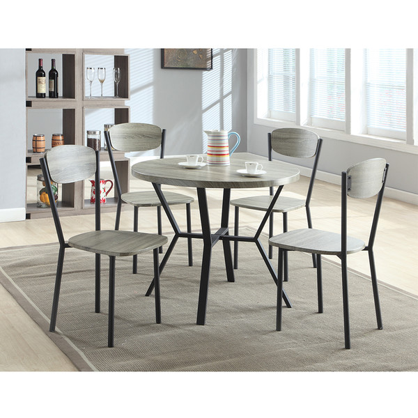 Crown Mark 1230 Blake Grey Dining Room Set