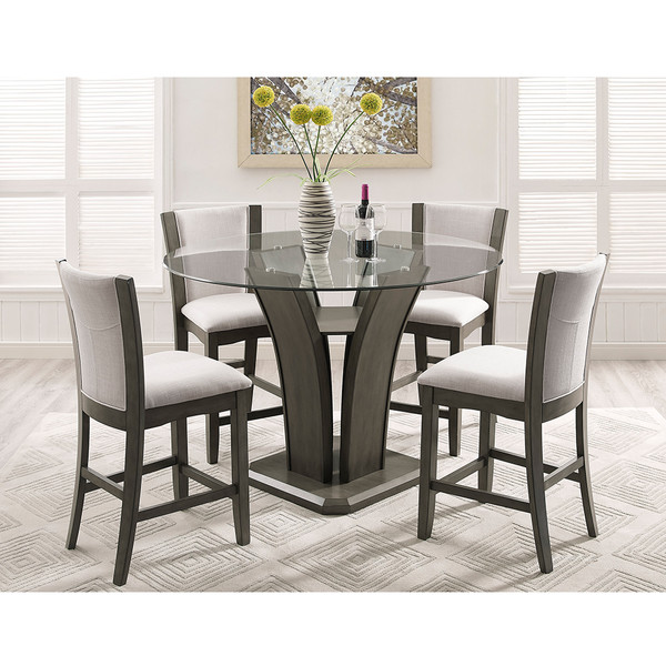 Crown Mark 1710 Camelia Grey Dining Room Set