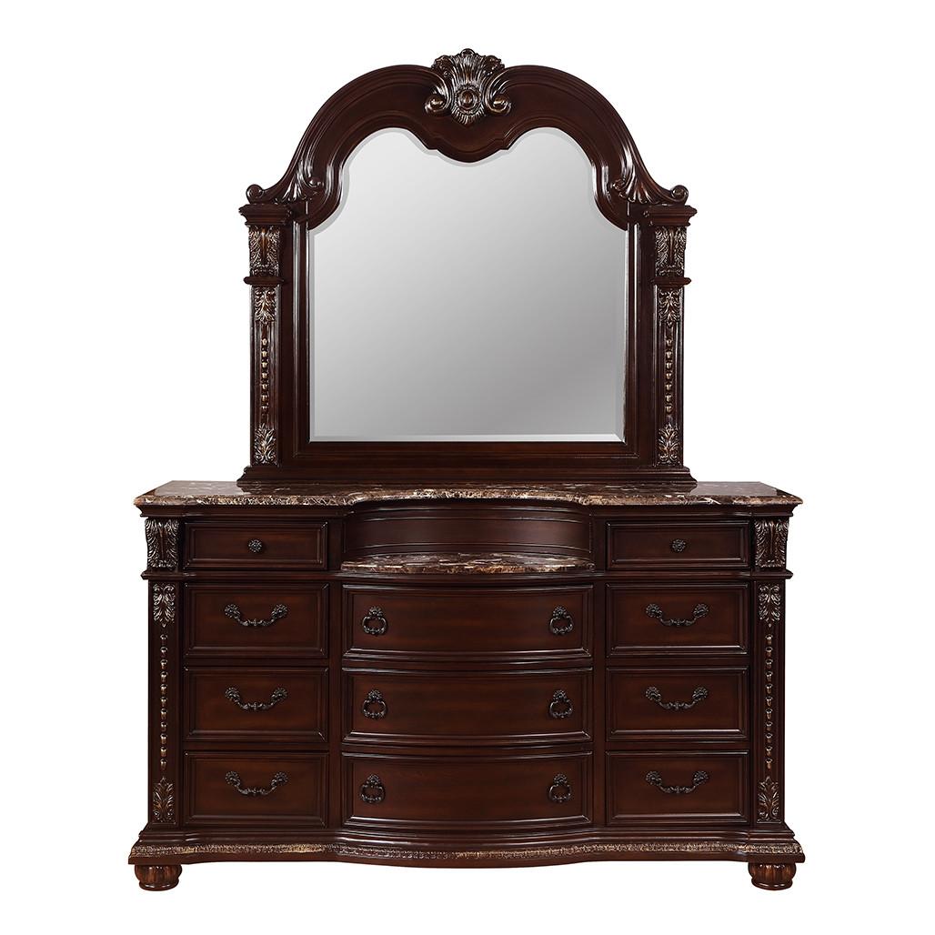 Stanley Cherry Dresser and Mirror