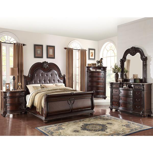 Crown Mark 1600 Stanley Cherry Bedroom Set