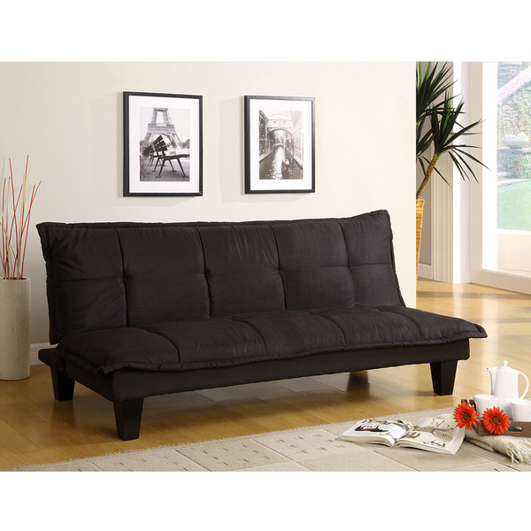 Crown Mark 5255 Margo Black Adjustable Sofa