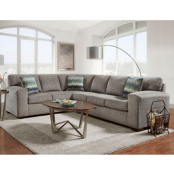 Affordable 5950 Silverton Pewter Sectional,Houston