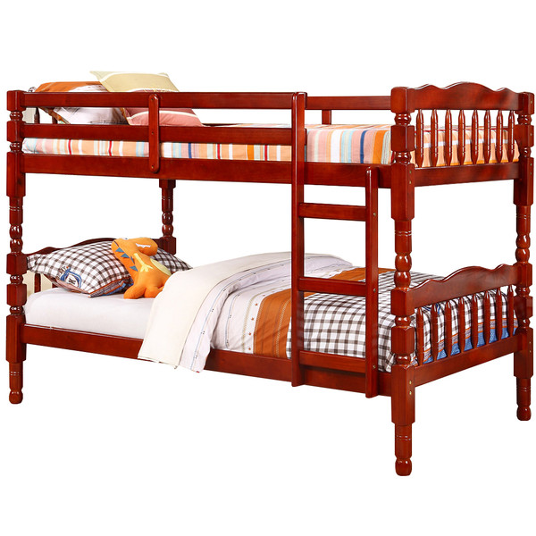 Cherry Twin Twin Bunk Bed
