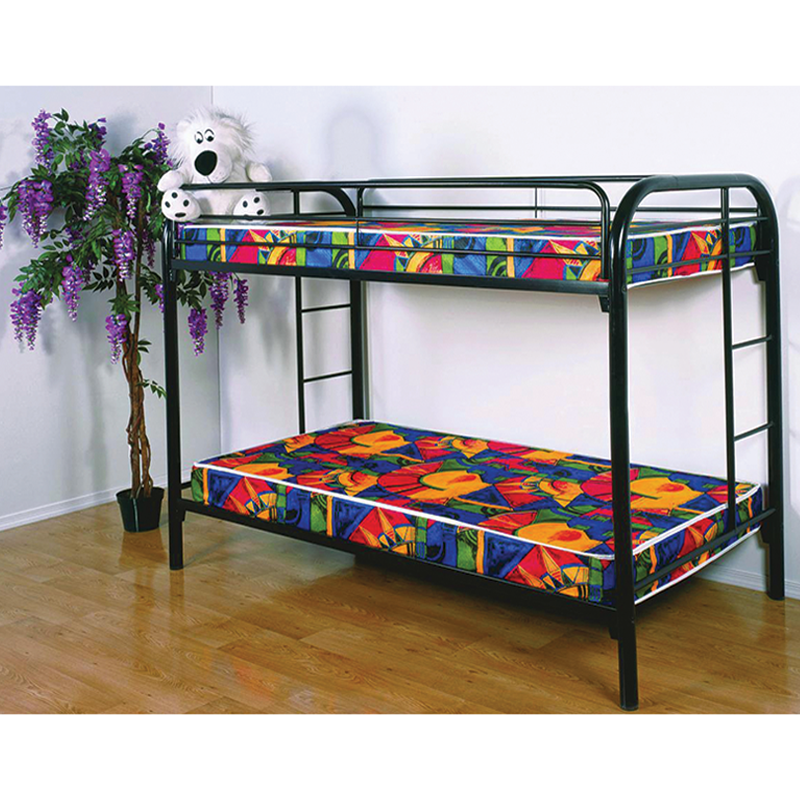 Donco 4501 Black Metal Twin Twin Bunk Bed free port, Tx