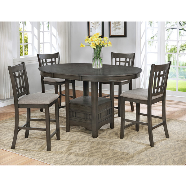 Crown Mark 2795 Hartwell Grey Dining Room Set