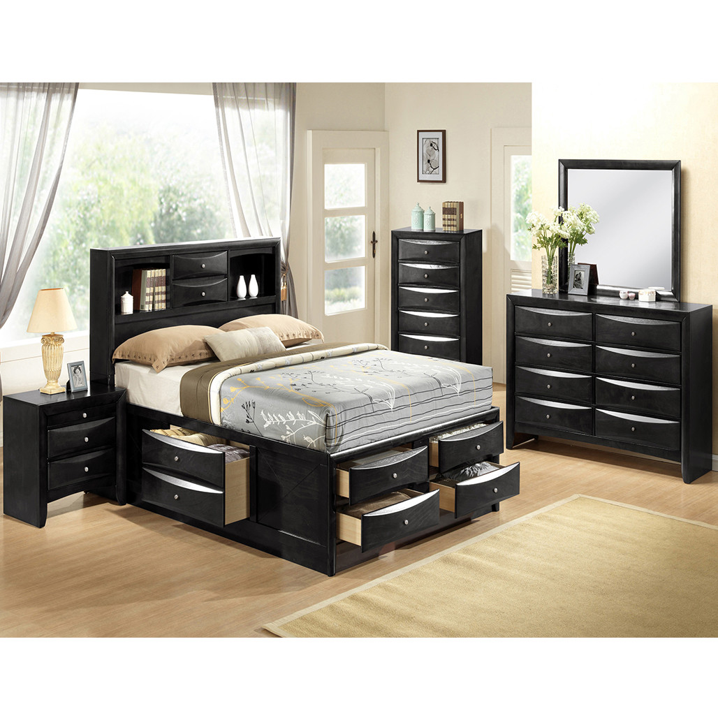 Crown Mark 4285 Emily Black Bedroom Set