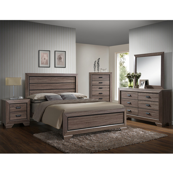 Crown Mark 5500 Farrow Grey Bedroom Set