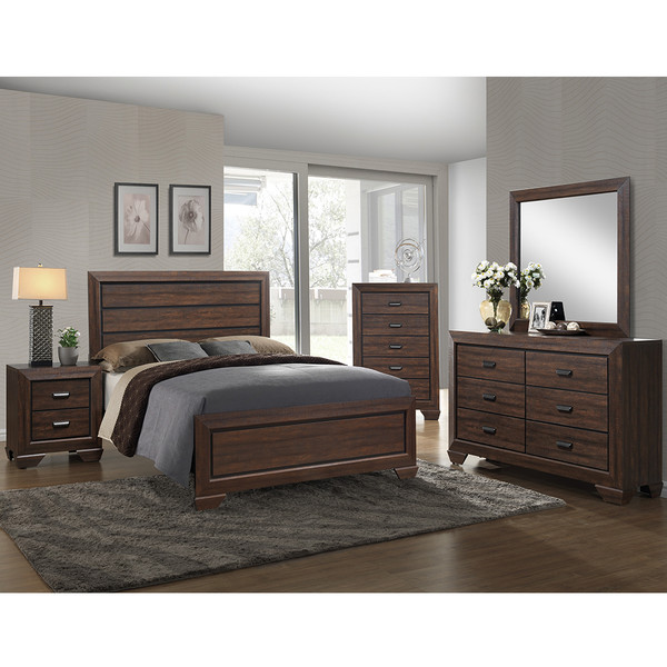 Crown Mark 5510 Farrow Chocolate Bedroom Set