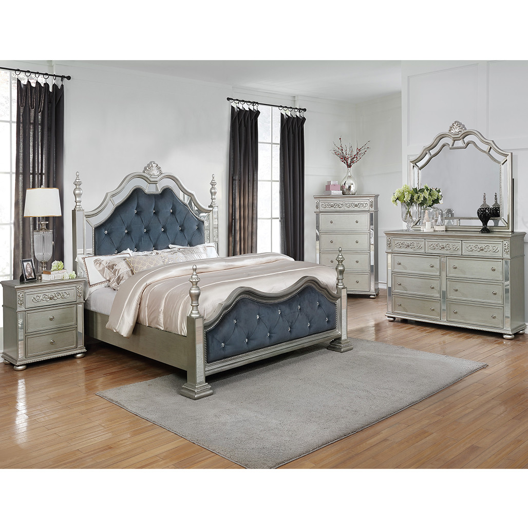 Crown Mark 7660 Sterling Bedroom Set