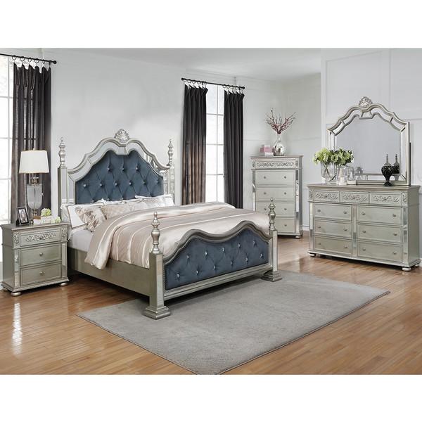 Crown Mark 7660 Sterling Bedroom Set