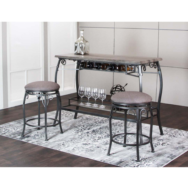Sprite Pub Table and Stools
