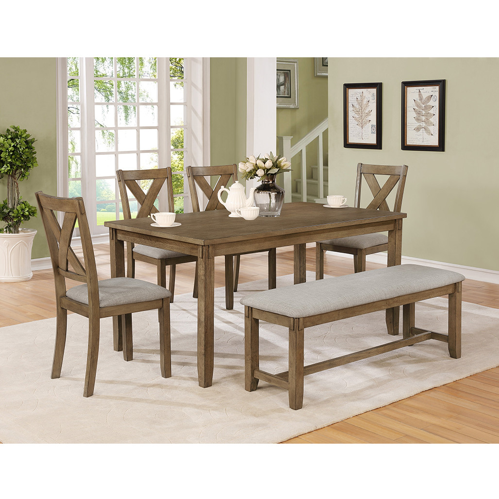 Crown Mark 2321WT Clara Dining Room Set