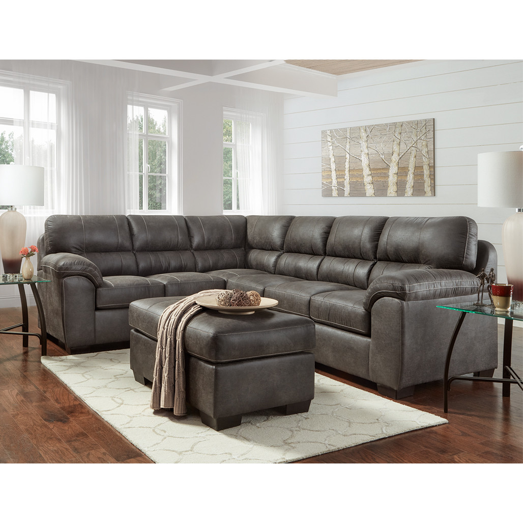 Affordable Ottomans: Affordable 5605 Sequoia Ash Ottoman