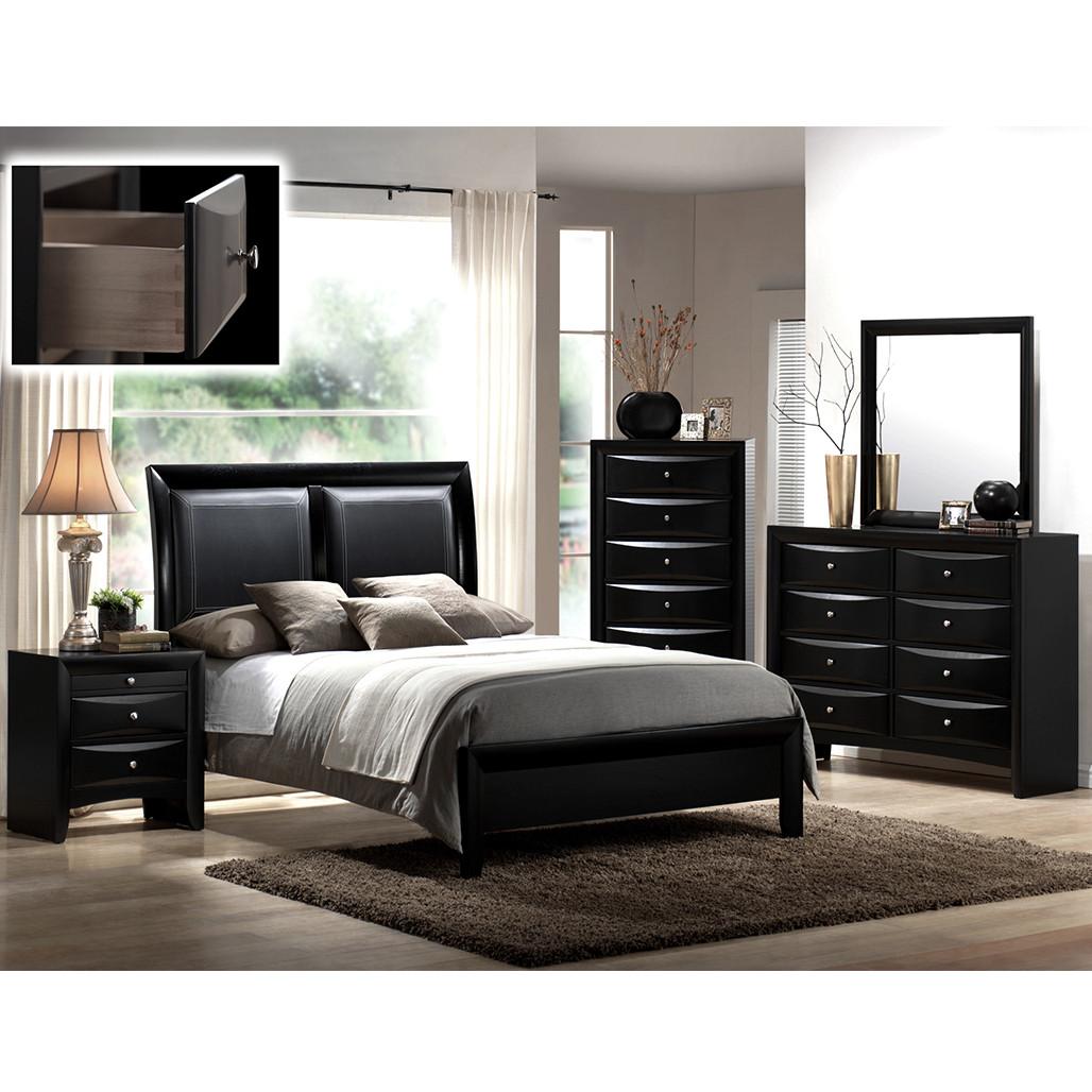Crown Mark 4280 Emily Black Bedroom Set