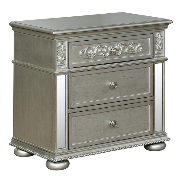 Crown Mark 7660 Sterling Nightstand