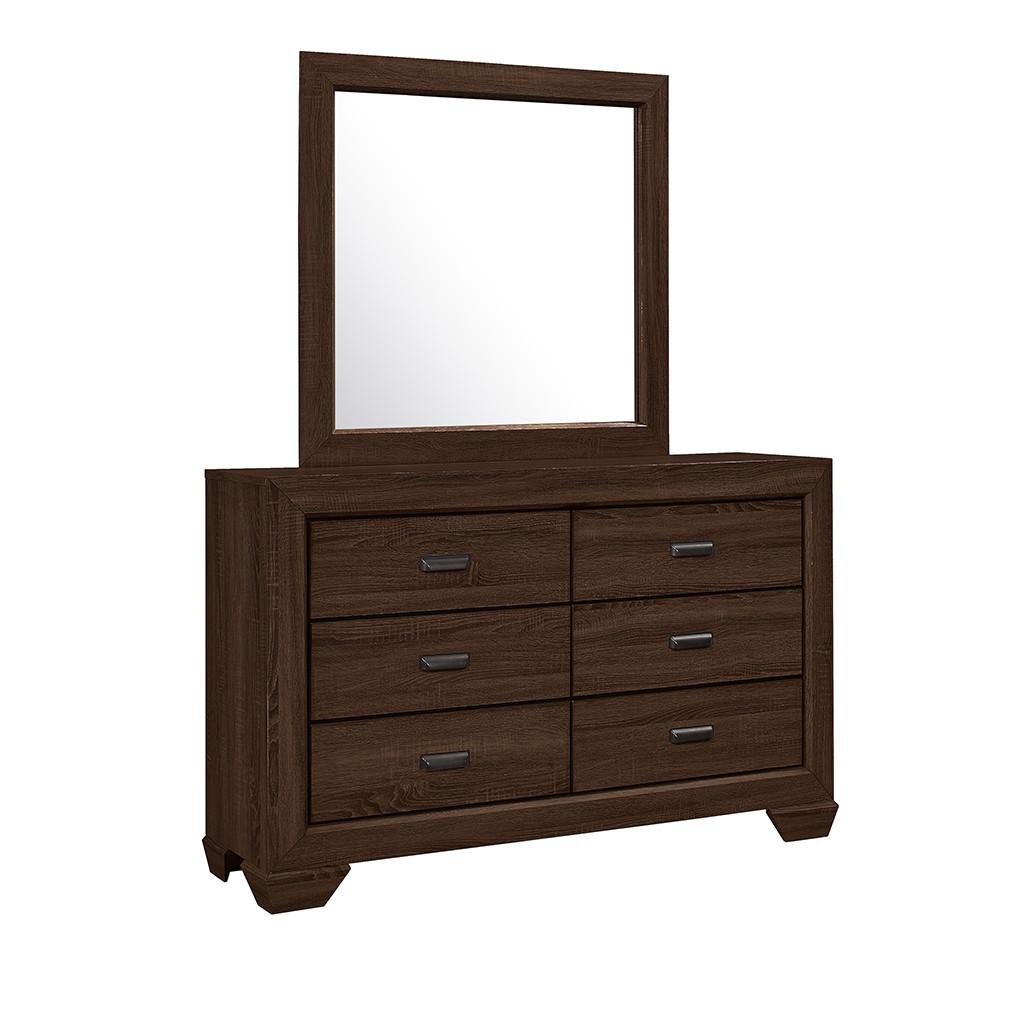Crown Mark 5510 Farrow Chocolate Dresser and Mirror