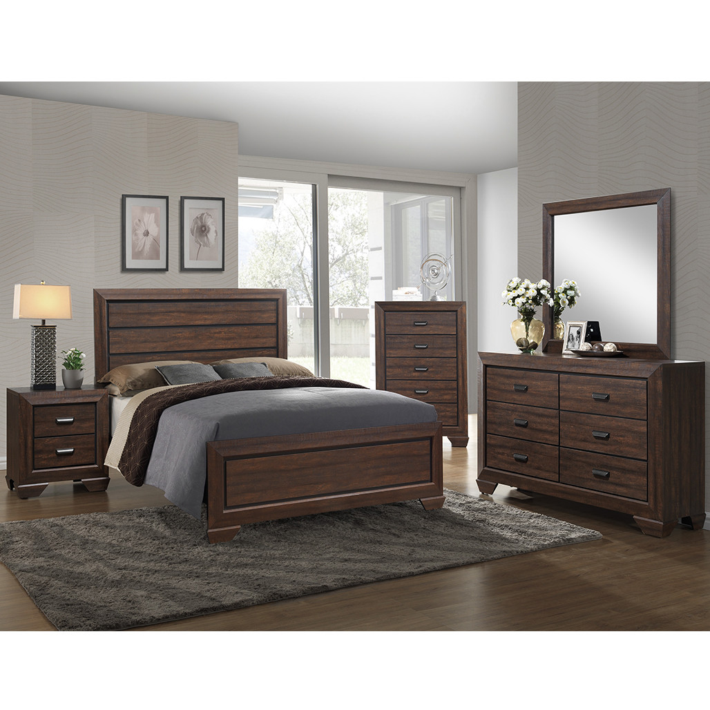 Crown Mark 5510 Farrow Chocolate Bedroom Set