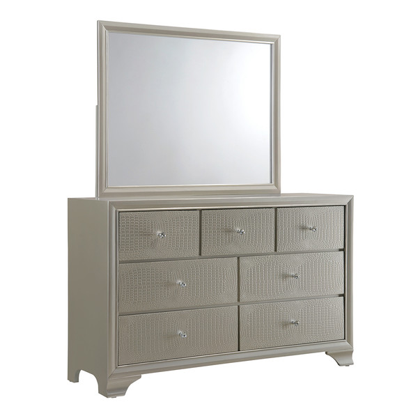 Crown Mark 4300 Lyssa Dresser and Mirror