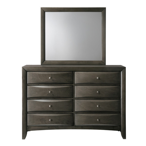 Crown Mark 4270 Emily Grey Dresser and Mirror