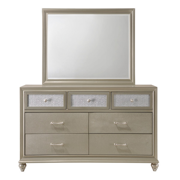 Crown Mark 4390 Lila Dresser and Mirror