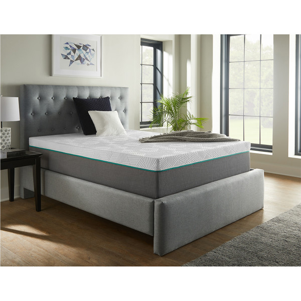 Corsicana 30514 Renue 14 Inch Hybrid Mattress and Box