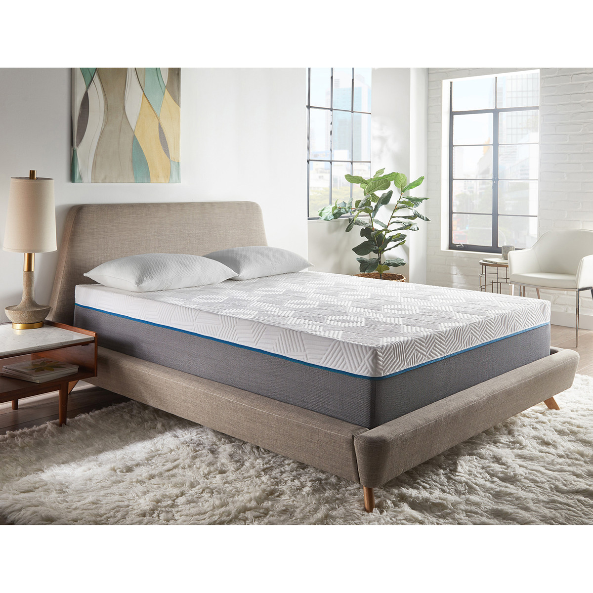 Renue Twelve Inch Memory Foam Mattress and Box
