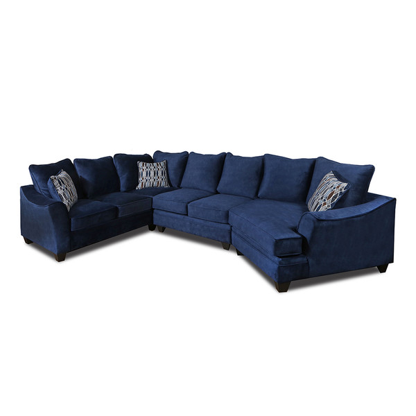 American 3800 Athena Navy Sectional