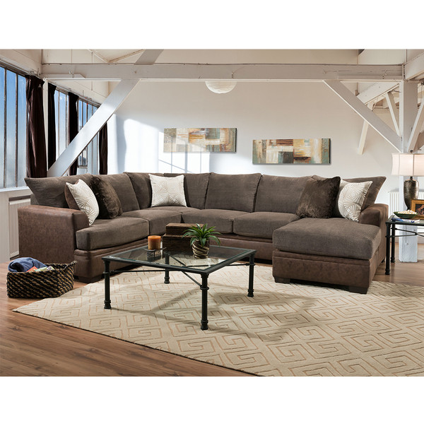 American 6800 Akan Mocha Sectional,Settegast,Houston
