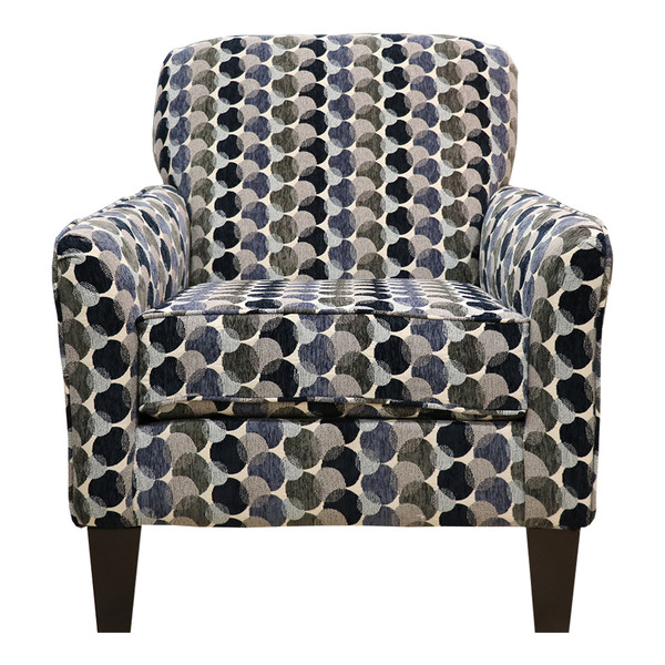 United 2153 Bubbles Ink Accent Chair