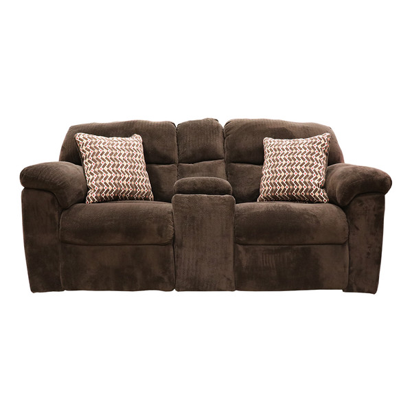 Affordable 1402 Chevron Mink Reclining Console Love