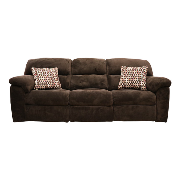 Affordable 1403 Chevron Mink Reclining Sofa