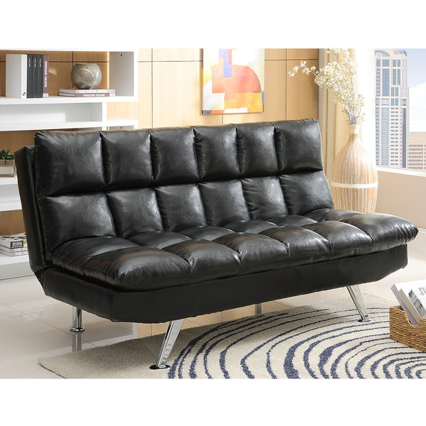 Crown Mark 5250 Sundown Black Adjustable Sofa