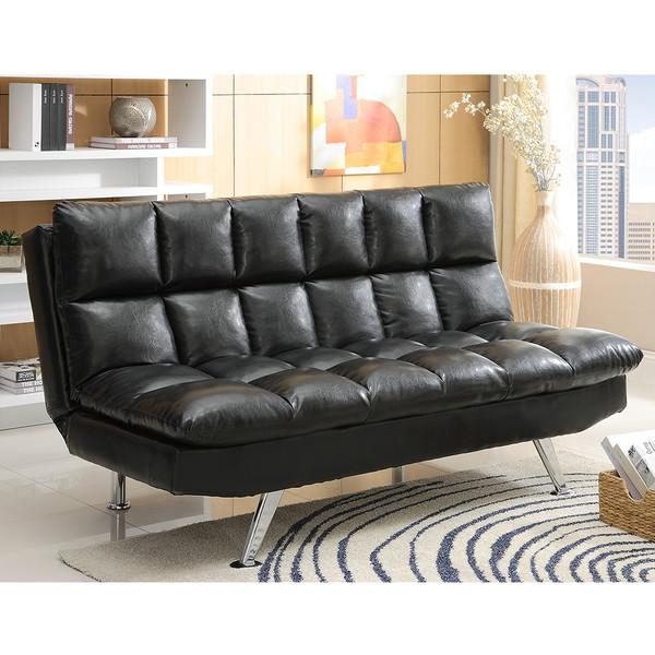 Crown Mark 5250 Sundown Black Adjustable Sofa
