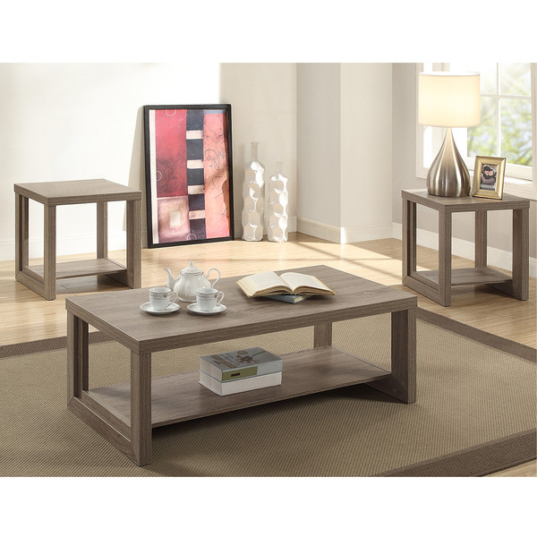 Crown Mark 4121 Audra Grey Coffee and End Tables
