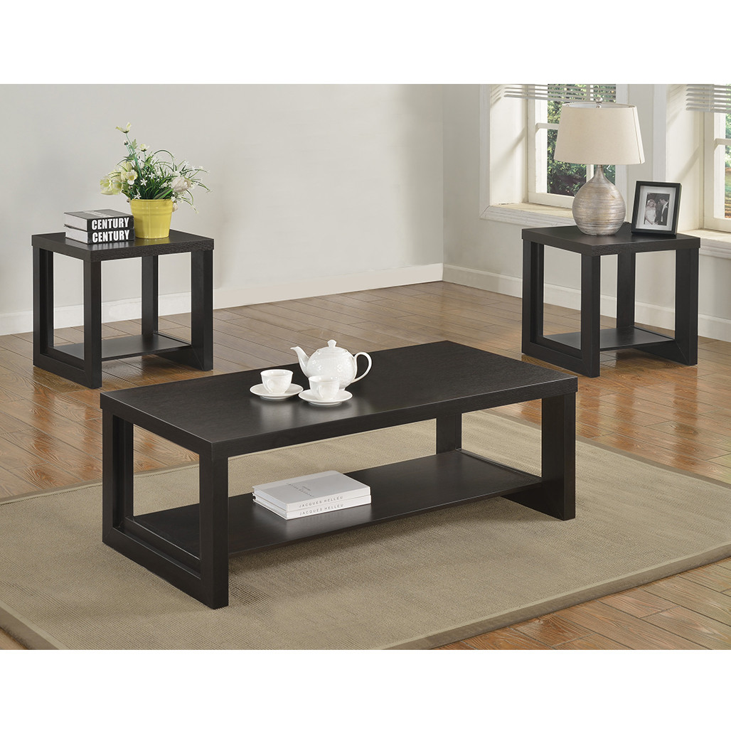 Expresso Coffee Table.Crown Mark 4121 Audra Espresso Coffee And End Tables