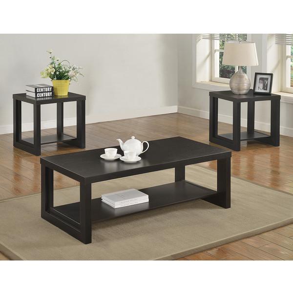 Crown Mark 4121 Audra Espresso Coffee and End Tables