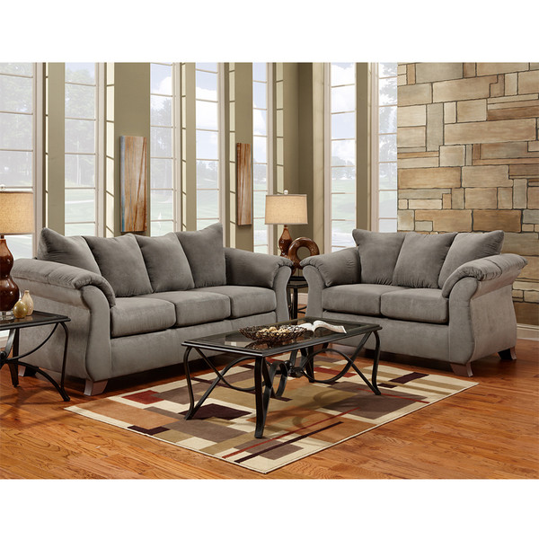 Affordable 6700 Sensations Grey Sofa and Love