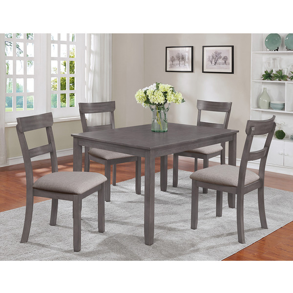 Crown Mark 2254 Henderson Grey Dining Room Set