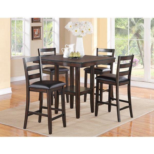 Crown Mark 2630 Tahoe Brown Dining Room Set
