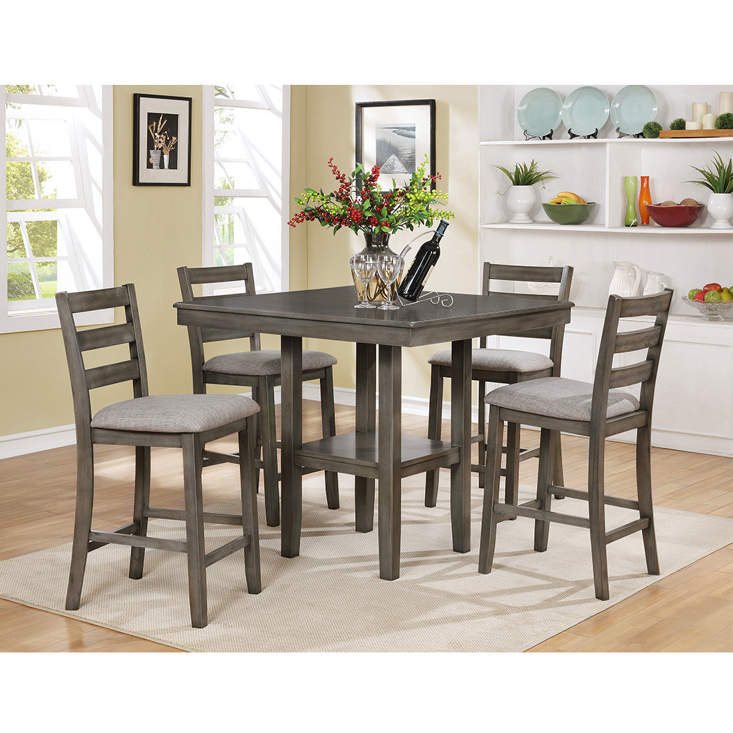 Picture of: Tahoe Grey Counter Height Dining Room Set