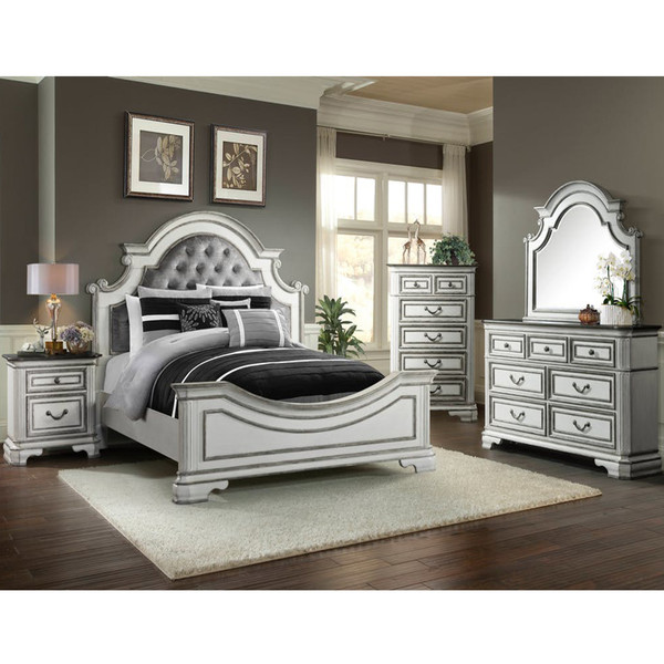 Elements LH700 Leighton Manor Antique White Bedroom Set