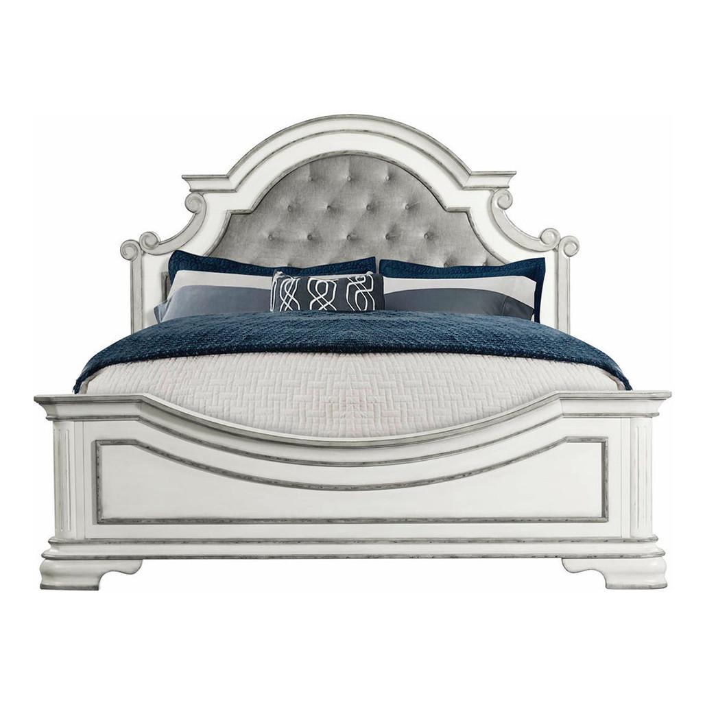 Leighton Manor Antique White Bed