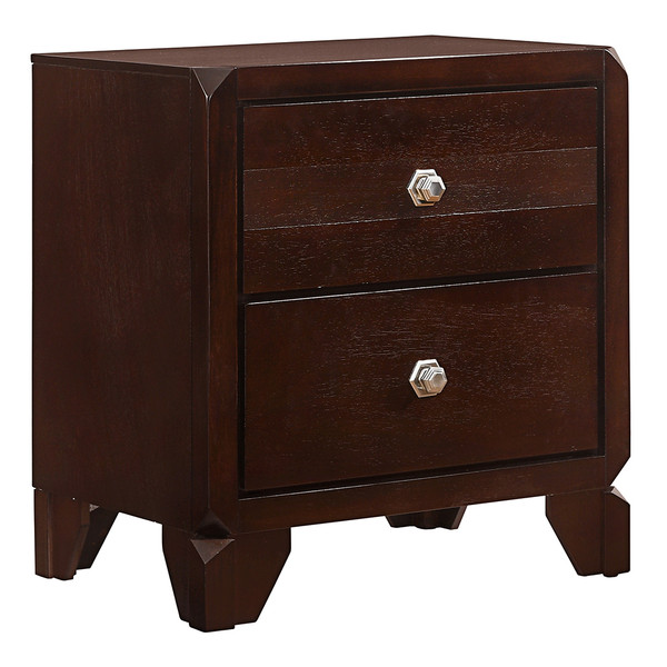 Crown Mark 6850 Brown Nightstand