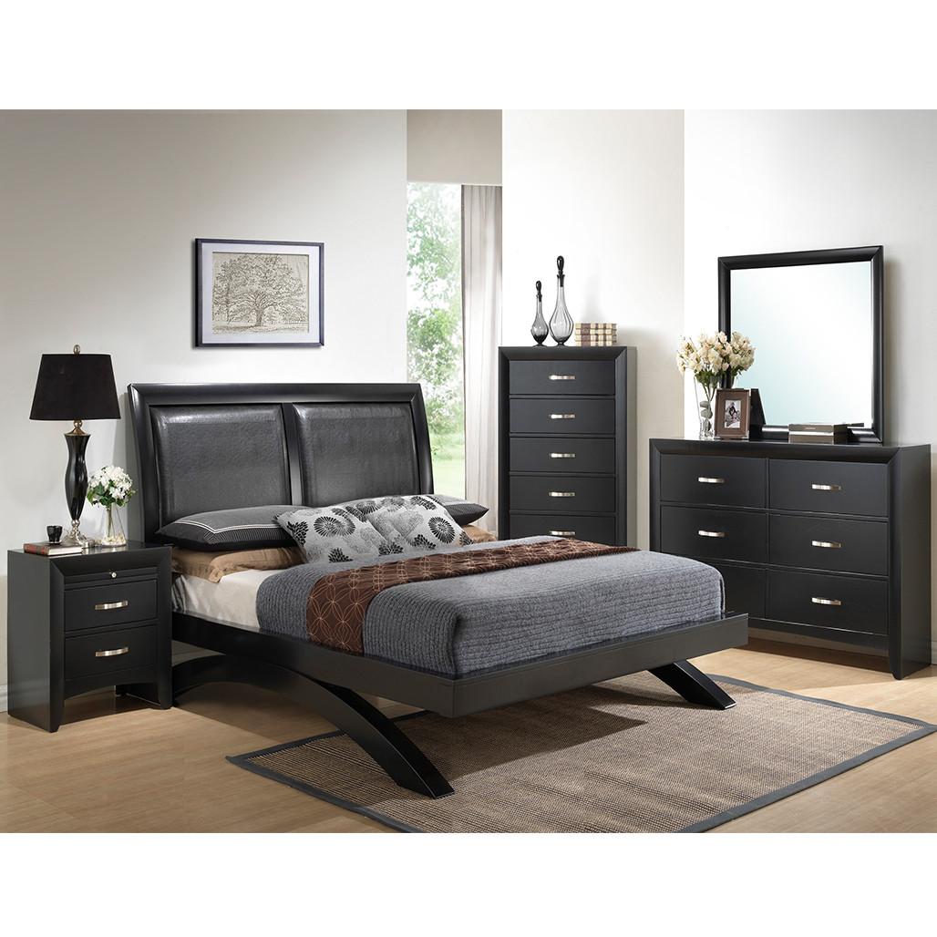 Crown Mark 4380 Galinda Black Bed