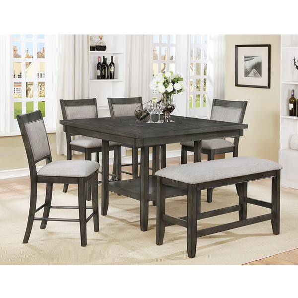 Crown Mark 2727 Fulton Grey Dining Room Set
