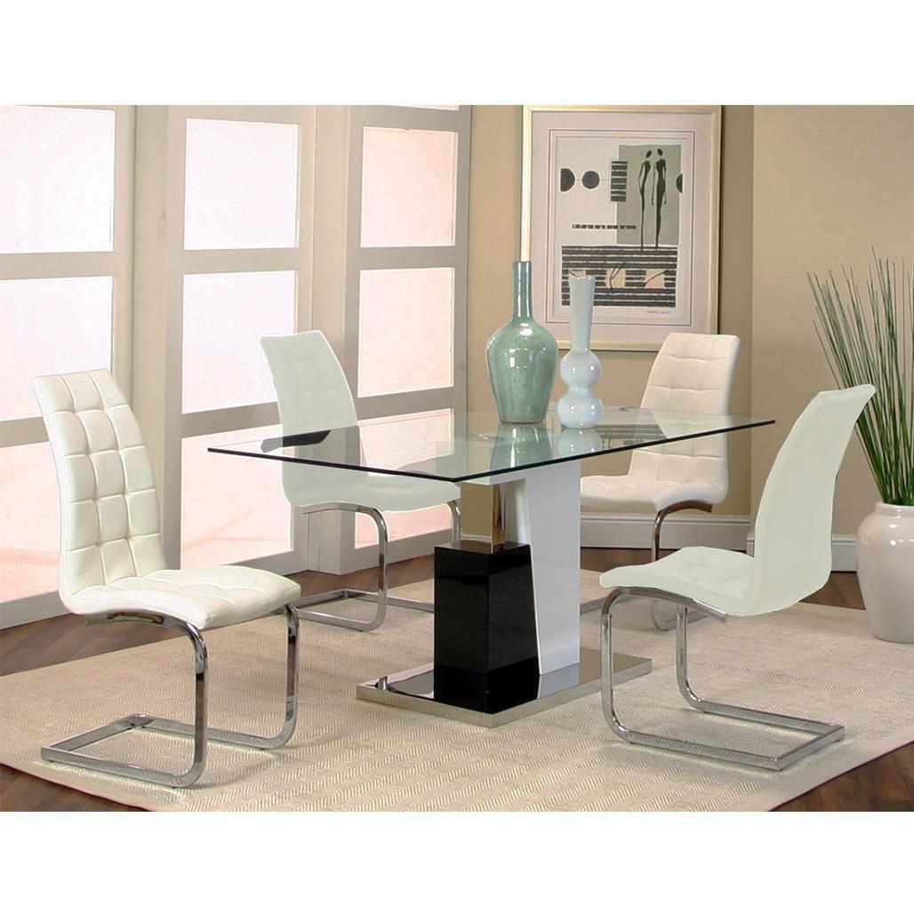 Cramco YM535 Padria White Dining Room Set
